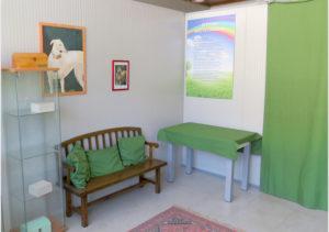 Sala d'aspetto prima della cremazione